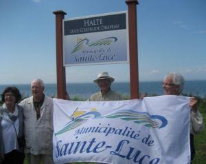 Drapeau municipalité Ste-Luce.