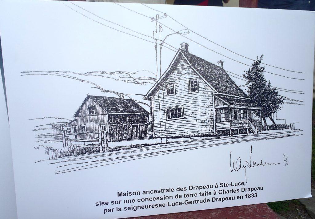 Dessin Maison ancestraleAntoine Drapeau