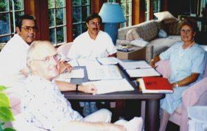Exécutif de lasso en 1992 (Bertrand, Gilles, Robert et Gisèle) Bulletin juin 2013