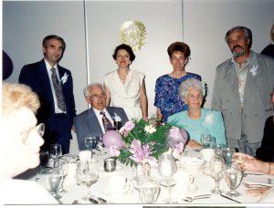 De gauche à droite : André, Jean-Baptiste, Diane , Claire, Henriette Bouchard, Denis