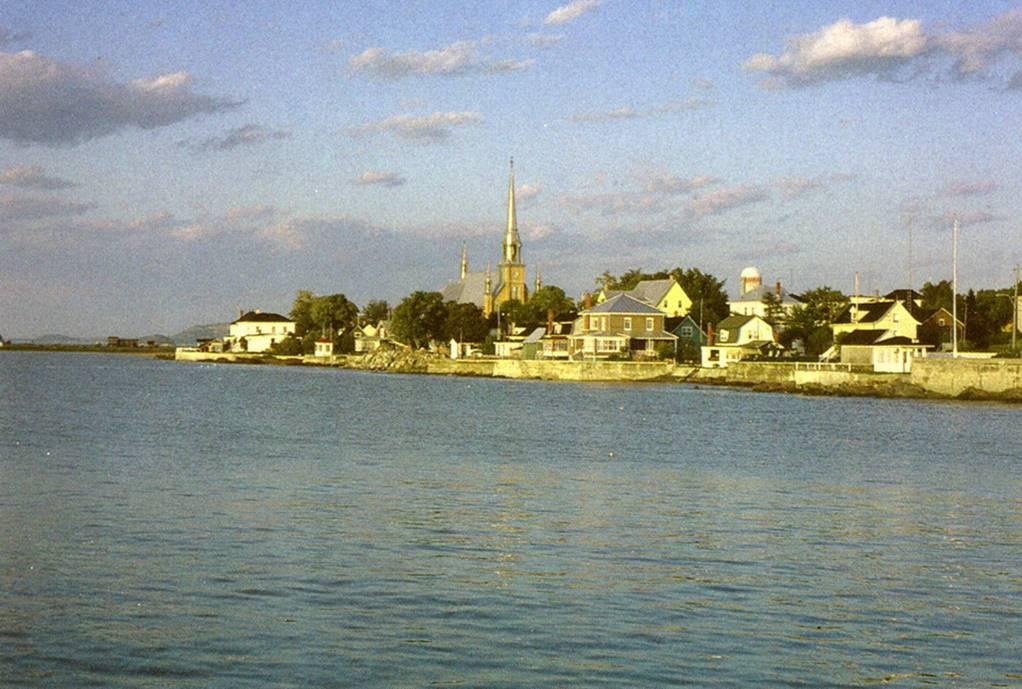 Kamouraska, vue de l'eau.