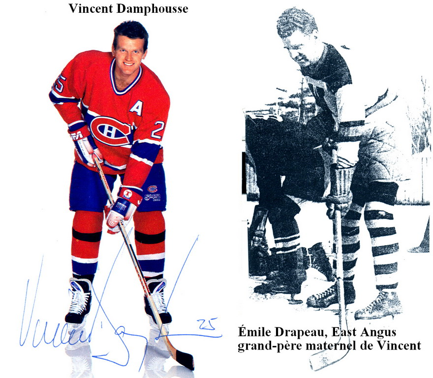 Vincent Damphousse et Émile Drapeau